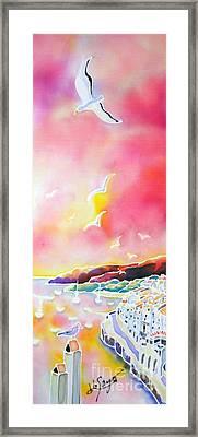 Sunset In Costa Brava Framed Print