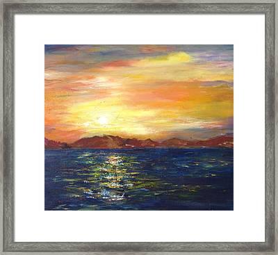Sunset In Dahab Framed Print