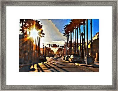 Sunset In Daytona Beach Framed Print by Alice Gipson