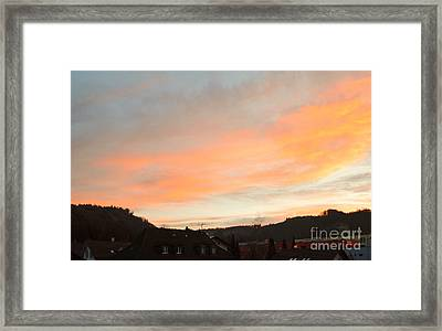 Framed Print featuring the photograph Sunset In December 1 by Felicia Tica