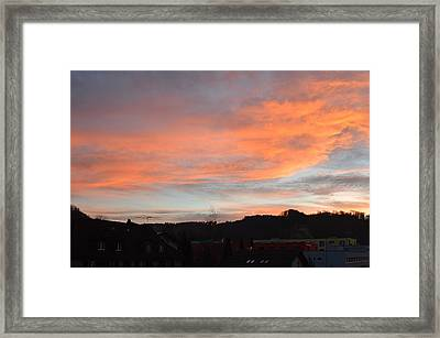 Framed Print featuring the photograph Sunset In December by Felicia Tica
