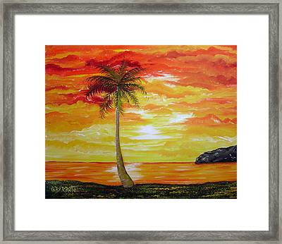 Sunset In Florida Framed Print