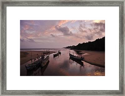 Sunset In Ghana Framed Print by Manu G