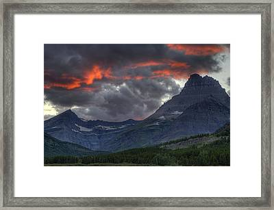 Sunset In Glacier Framed Print