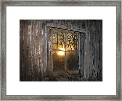 Sunset In Glass Framed Print
