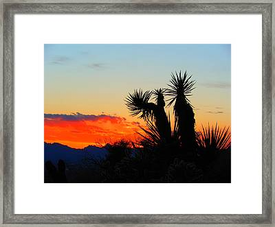 Sunset In Golden Valley Framed Print