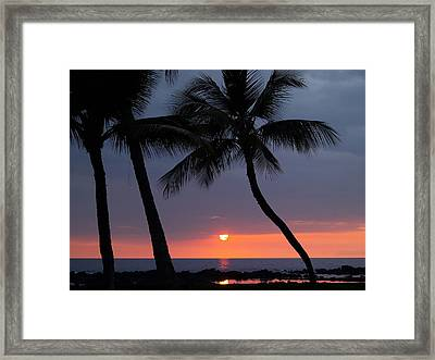 Sunset In Hawaii Framed Print