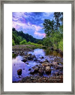 Sunset In Hedden Park Framed Print