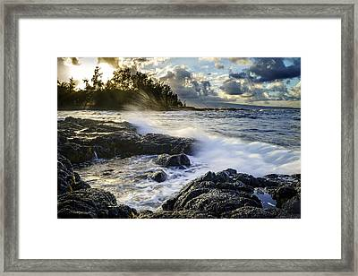 Framed Print featuring the photograph Big Island - Sunset In Hilo by Francesco Emanuele Carucci