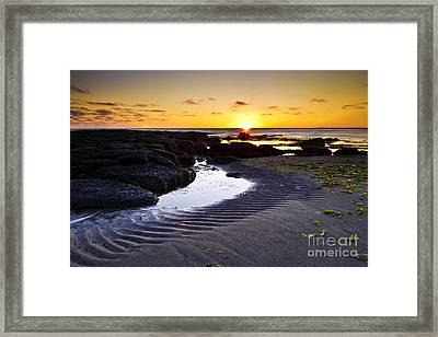 Framed Print featuring the photograph Sunset In Iceland by Gunnar Orn Arnason