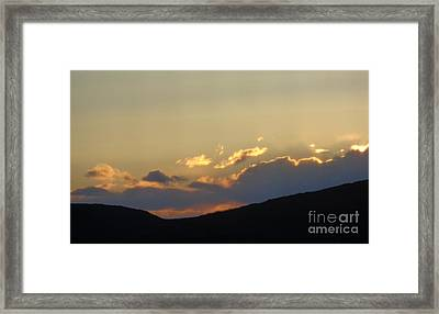 Framed Print featuring the photograph Sunset In June by Christina Verdgeline