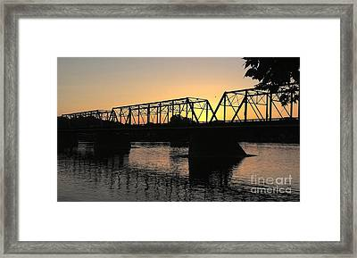 Sunset In June Framed Print