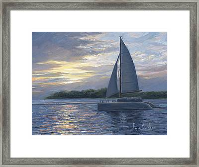 Sunset In Key West Framed Print by Lucie Bilodeau
