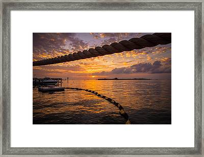 Sunset In Key West Framed Print by Maria Robinson