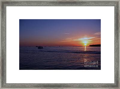 Sunset In Keywest Framed Print
