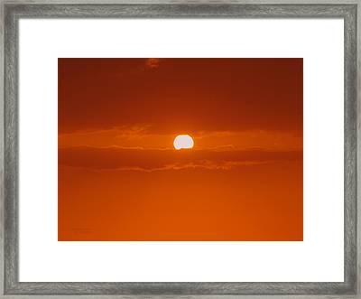 Sunset In Kona Framed Print by Athala Carole Bruckner