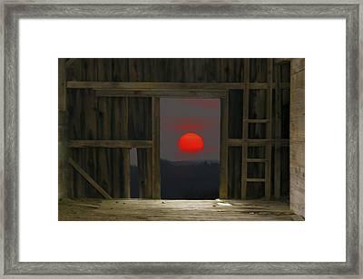 Sunset In Leraysville Framed Print by David Simons