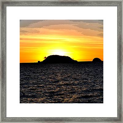 Sunset In Madagascar Framed Print by Ernesto Cinquepalmi
