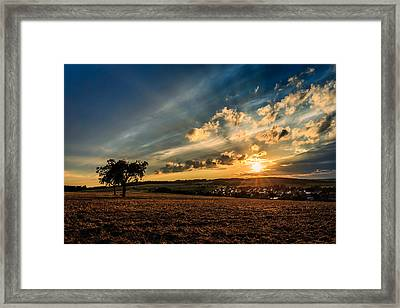Sunset In Merzig / Germany Framed Print by Mah FineArt
