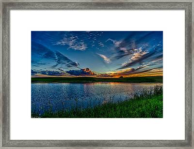 Sunset In Montana Framed Print by Jeanie Eaton