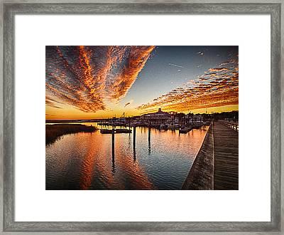 Sunset In Murells Inlet Framed Print