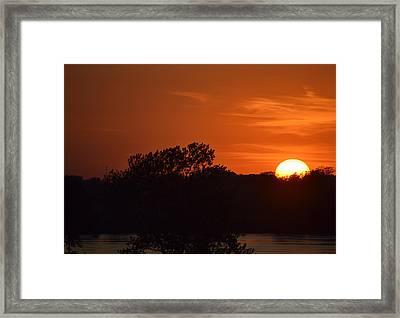 Sunset In Music City Framed Print by Joe Bledsoe