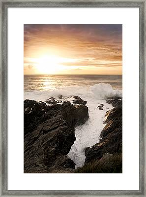 Sunset In Newquay Framed Print