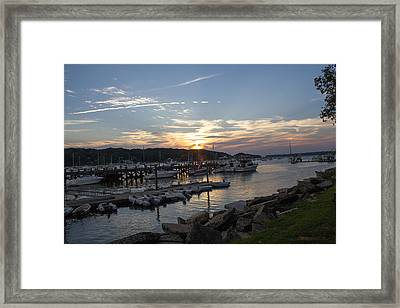 Sunset In Northport Framed Print