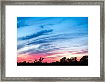 Sunset In Ontario Canada Framed Print by Marek Poplawski