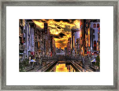 Sunset In Osaka Framed Print by SEOS Photography