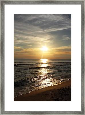 Sunset In Panama City Framed Print by Vicki Kennedy