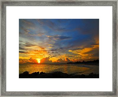 Sunset In Paradise - Beach Photography By Sharon Cummings Framed Print by Sharon Cummings