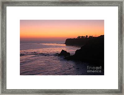 Sunset In Paradise Framed Print by Bev Conover