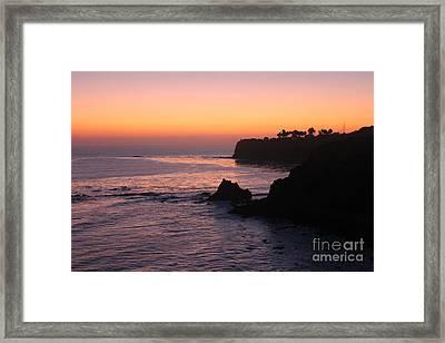 Sunset In Paradise Framed Print by Bev Conover