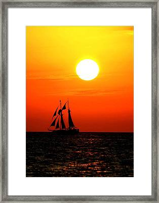 Sunset In Paradise Framed Print by Claudette Bujold-Poirier