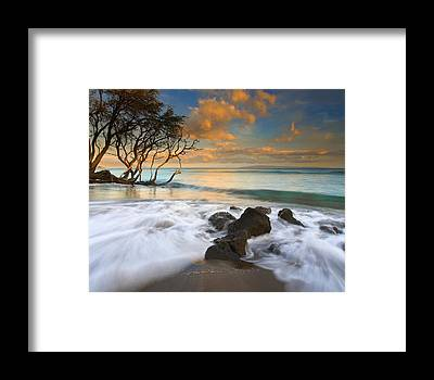 Maui Sunset Framed Prints