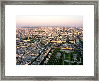 Framed Print featuring the photograph Sunset In Paris by Deborah Smolinske