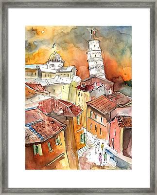 Sunset In Pisa Framed Print by Miki De Goodaboom