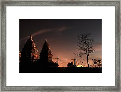 Sunset In Prambanan Framed Print by Achmad Bachtiar