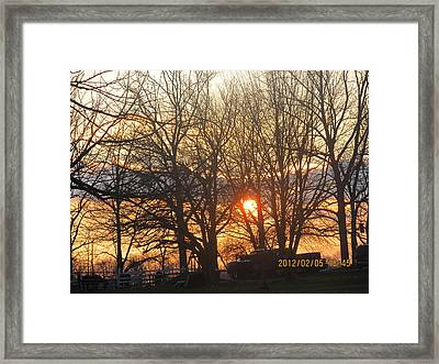 Sunset In Progress Stage Three Framed Print by Tina M Wenger