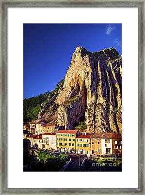 Sunset In Provence Framed Print