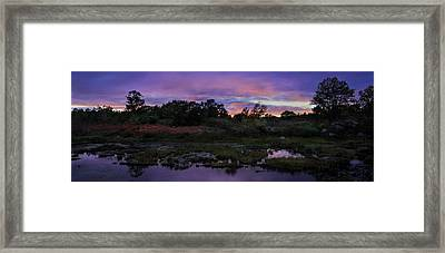 Sunset In Purple Along Highway 7 Framed Print by Peter v Quenter