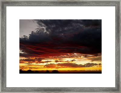 Sunset In Red Framed Print