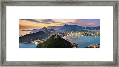 Sunset In Rio De Janeiro Framed Print by Anna Gibiskys
