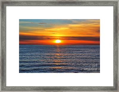 Sunset In San Clemente Framed Print by Mariola Bitner
