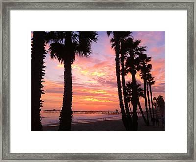 Sunset In San Clemente Framed Print