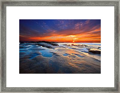 Sunset In San Diego Framed Print