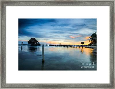 Sunset In San Pedro Framed Print