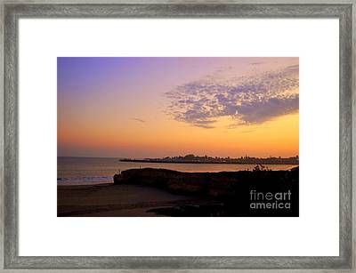 Sunset In Santa Cruz California  Framed Print by Garnett  Jaeger