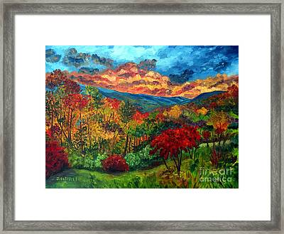Sunset In Shenandoah Valley Framed Print